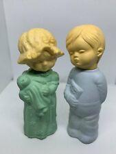 2 Avon Little Dream Girl Bedtime Boy Cologne Glass Bottles Vintage Empty