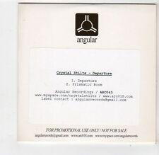 (FQ296) Crystal Stilts, Departure - DJ CD