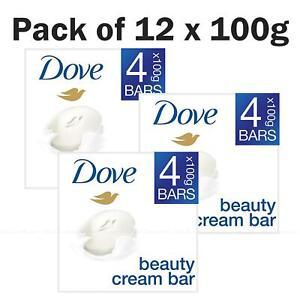 Dove Original Beauty Moisturising Cream Soap Smooth Skin Pack of 12 Bars x 100g