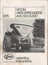 Vicon Vari Spreader 400 500 600 Operators Manual