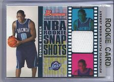 2006-2007 Bowman Basketball Ronnie Brewer NBA Rookie Snap Shots Relics RC #2/199