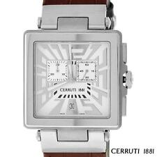 CERRUTI 1881 MENS IMPERO UOMO SWISS CHRONOGRAPH WATCH WHITE NEW CT64321X103022