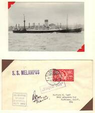 """Uk Indonesia 1953 """"Jakarta"""" Paquebot Posted At Sea On"""