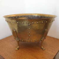 Birmingham Guild of Handicraft Arts and Crafts Brass Copper Coal Log Basket BGH