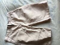 BOYS AGE 11/12 RIVER ISLAND PALE PINK SHORTS GOOD CONDITION 100% AUTHENTIC