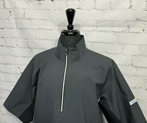 "FootJoy DryJoy ""HYDROLITE"" S/S Houndstooth Rain Wind Golf Jacket Men's L EXC.!"