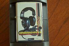 ZIPPO Lighter, 20837 Retro Headphones/Phones, Hi-Pol Chrome, 2004, Sealed, M1045