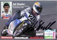uralte AK, Autograph von Adi Stadler