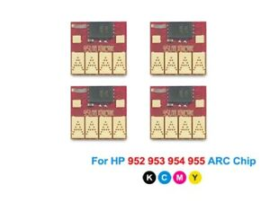 4PC ARC Chip For HP 952XL 953XL 954XL 955XL For HP Officejet 7740 8210 8710 8710