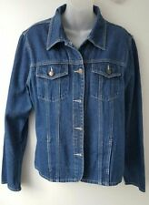 Denim Classic Neckline Casual Coats & Jackets for Women