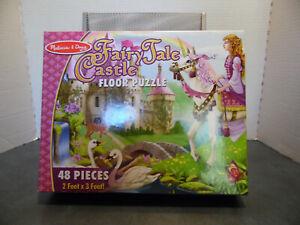 Melissa & Doug Fairy Tale Castle Floor Puzzle, 2' x 3', 48 Pieces