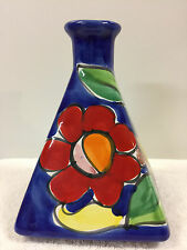 La Musa Desimone Italy Art Pottery Triangle Vase Flowers Unique