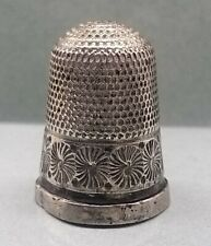 More details for vintage sterling silver thimble ~3.84 grams~hallmarked~antique sewing. £27.99.
