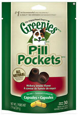 Greenies Pill Pockets For Dogs 7.9Oz Capsule Hickory Smoke Flavored