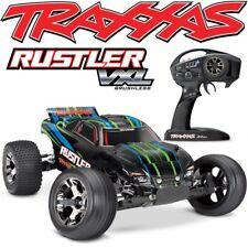 NEW Traxxas 37076-4 Rustler VXL Brushless RC Stadium Truck w/TSM & GREEN Body!