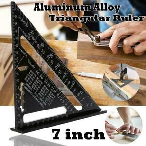 17CMAluminium Speed Square 90 Degree Rafter Angle Measure GuideTool E1S4