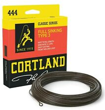 Cortland 444 Full Sinking Type 3 Fly Line - All Sizes - Free Fast Ship