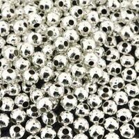 Silver Plated Brass Round.4mm Round Spacer Beads 300pcs (FNSP0475R)