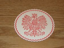 25 POLISH EAGLE HOLIDAY DRINK BEVERAGE COASTERS COAT OF ARMS COASTER ORZEL BIALY