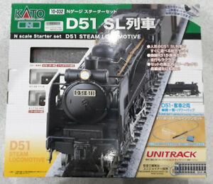 KATO 10-032 N Gauge Starter Set D51 SL Model train Introduction set