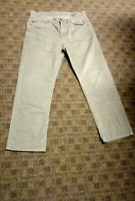 TOMMY BAHAMA Green Solid Cotton Blend Flat Front Chino Pants Size 34/32 GG9492