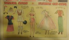 Brenda Starr Sunday with Large Uncut Paper Dolls from 3/15/1942 Full Size Page