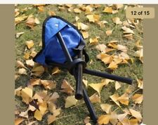Camping Collapsible Stool & Carry Strap Case Camping Folding Chair Bench