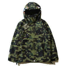A Bathing Ape Camo Zip Shark Jaw Bape Camouflage Windbreaker Jacket Hoodie/Coats