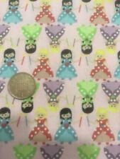 Tiny Princess Small Princesses On Pink 100% Craft Cotton Company Quilting Fabric