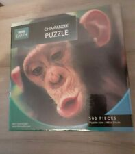 New and Sealed BBC earth 500 piece jigsaw puzzle CHIMPANZEE rare