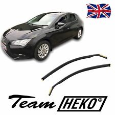SET OF FRONT HEKO TINTED WIND DEFLECTORS for SEAT LEON mk3 2013 - 2020 2pc