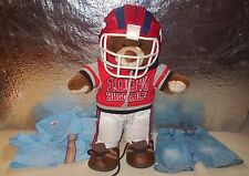 BUILD A BEAR WORKSHOP STUFFED ANIMAL SPORT FOOTBALL PLAYER COSTUME OUTFIT LOT