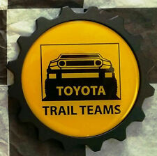 USA MADE Aluminum FJ Cruiser Grille Badge - CLASSIC TRAIL TEAMS STYLE YELLOW BLK