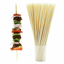 "500 10"" BAMBOO SKEWERS Wood Sticks BBQ Kabob Fondue Grill Eco-Friendly BULK"