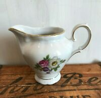 Winterling Fine China Flower Garden Gold Trim Bavaria Germany Handled Creamer
