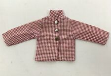 Genuine Vtg Sindy Barbie Floral Red Check 60s Shirt Jacket With Collar