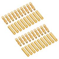 40 Stück 20 Paar 4mm Original Goldstecker Stecker Buchse 4 mm Lipo Akku 4,0mm RC