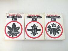 SAGGI SUL BUDDISMO ZEN - D.T. SUZUKI - 3 LIBRI MEDITERRANEE 1992 - BUONE COND.L1