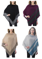 SALE! Celeste Ladies' Cashmere Blend Poncho Sweater VARIETY of COLORS Ships Free