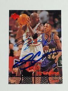 Michael Jordan/Ray Allen Upper Deck Mj Timeline hand signed Autograph Card w/COA