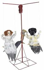Halloween Haunted House Life Size Animated Creepy Prop Ghostly Go Rounds 3 Dolls