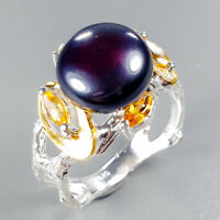 Handmade SET Natural Pearl 925 Sterling Silver Ring Size 8/R123960