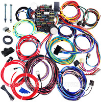 UNIVERSAL 21-CIRCUIT FULL CAR WIRE HARNESS - HOT ROD GM HOLDEN CHEV FORD WILLYS