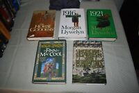 Morgan Llywelyn book set/lot (ALL 1st Edition/First Printings,1921,1916)