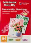 20 Sheets A4 Self Adhesive Glossy Photo Inkjet Paper Sticker Sticky UK