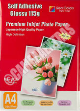 20 Sheets A4 Self Adhesive Glossy Photo Inkjet Paper Sticker Sticky UK