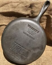 Professionally Cleaned Wagner Cast Iron Skillet Pan 1891 Original Chicken Fryer