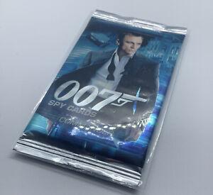 James Bond 007 Commander Spy Cards TEST Set Sealed Booster Pack Packet