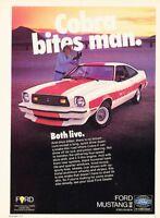 1978 Ford Mustang II Cobra Original Advertisement Print Art Car Ad PE69
