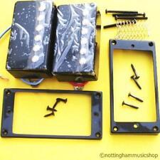 2 Nuevo Negro Guitarra Eléctrica Cuerdas Humbucker Pastillas
